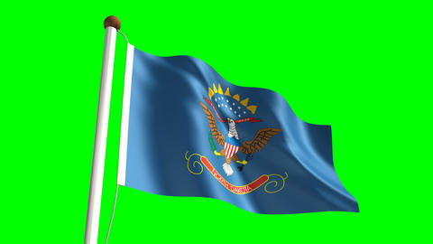 North Dakota flag Animation