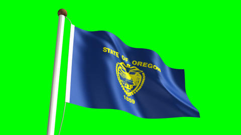 Oregon flag Animation