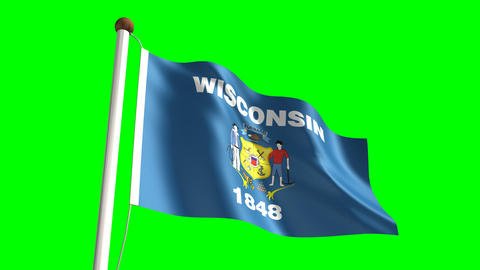 Wisconsin flag Animation