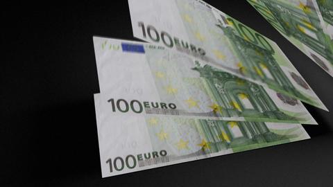 100 Euros bills count 01 Stock Video Footage