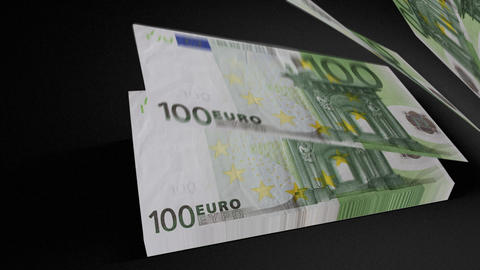 100 Euros bills count 01 Animation