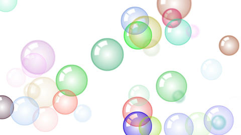 Motion background with moving soap bubbles Stock Video Footage