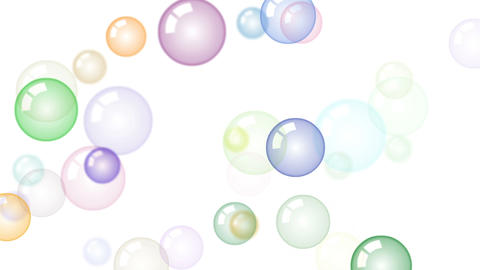 Motion background with moving soap bubbles Animation