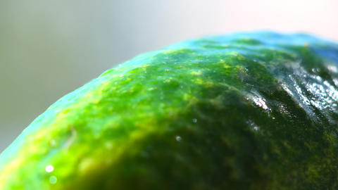 Green cucumber rotating Stock Video Footage