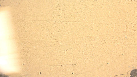 Applying putty on a concrete wall Stock Video Footage