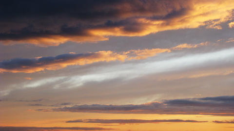 Timelapse of sunset clouds Stock Video Footage