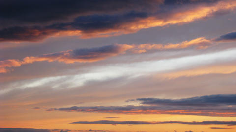 Timelapse of sunset clouds Footage