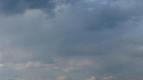 Time lapse of stormy sky with fast moving clouds Stock Video Footage
