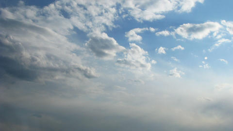 Time lapse of blue sky with fast moving clouds Stock Video Footage