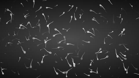 Motion background with moving spermatozoon Animation