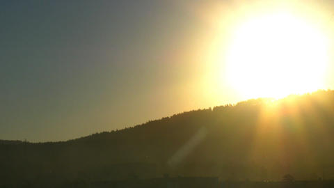 Timelapse of the rising sun Stock Video Footage