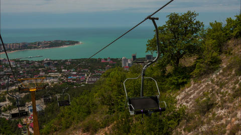 Cableway hyperlapse Stock Video Footage
