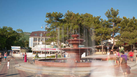 Fountain timelapse Stock Video Footage