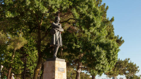 Lermontov monument hyperlapse Stock Video Footage