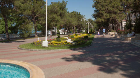 Gelendzhik city walk hyperlapse Stock Video Footage