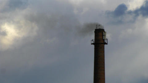 Smoking power plant chimney timelapse with fast mo Stock Video Footage