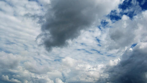 Time lapse of fast moving dramatic stormy clouds Stock Video Footage