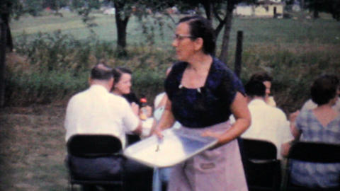 Company Work Picnic 1962 Vintage 8mm film Stock Video Footage