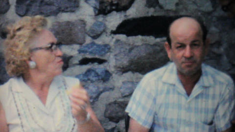 Grandparents At Family Summer Picnic 1962 Vintage Footage