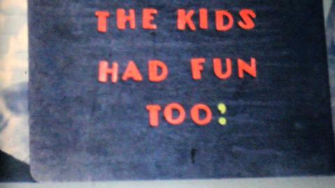 Kids Enjoying Family Summer Picnic 1962 Vintage 8m Stock Video Footage