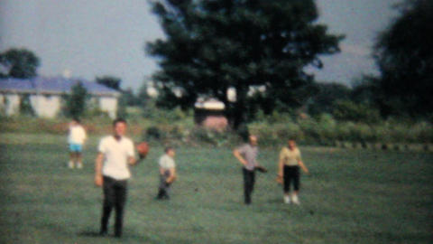 Playing Baseball At Family Reunion 1962 Vintage Footage