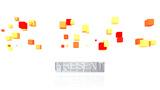 Present. HeadLine Introduction stock footage