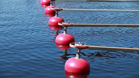red buoy Stock Video Footage