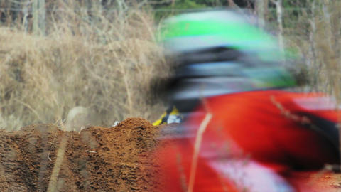 Enduro bike riders in Russia Stock Video Footage