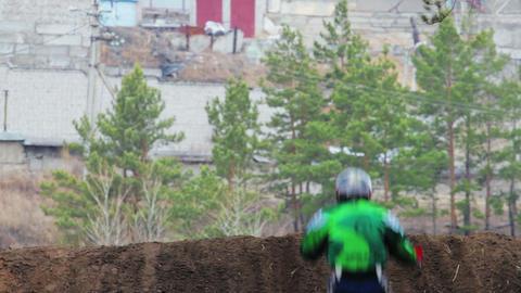 Enduro bike riders in Russia Stock Video Footage