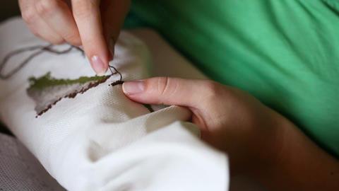 Needlework Stock Video Footage