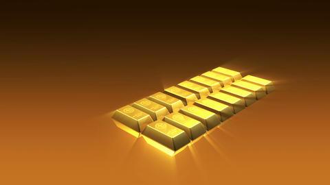Shiny Growing Gold Bricks Pyramid Stock Video Footage