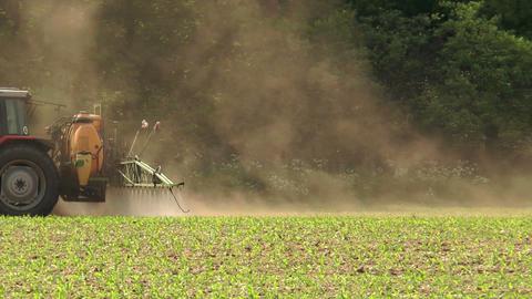 spraying pesticides closeup Stock Video Footage