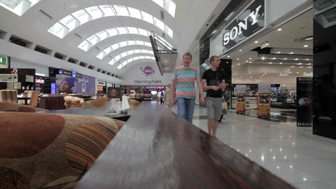 DUBAI - APRIL 25: Dubai Mall with visitors from in Stock Video Footage