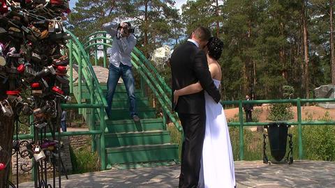 Wedding. Photographer Footage