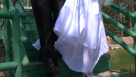 Wedding, feet Footage