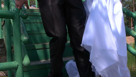 Wedding, feet Stock Video Footage