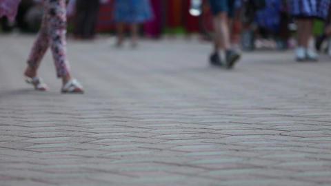 Street Feet Stock Video Footage