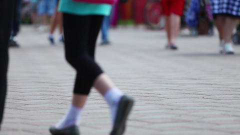 Street Feet Footage