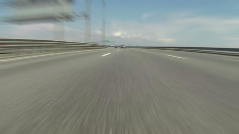 Fast Blur Driving On Highway stock footage
