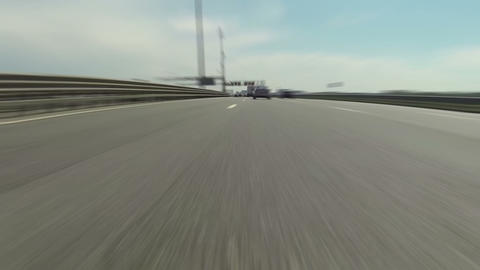 Fast blur driving on highway Stock Video Footage