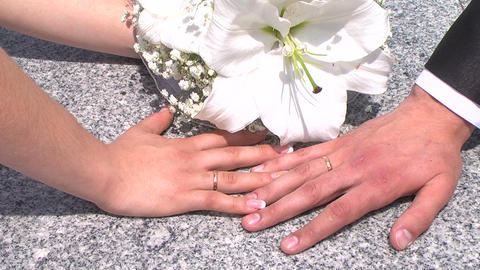 Wedding rings Stock Video Footage