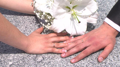 Wedding rings Footage