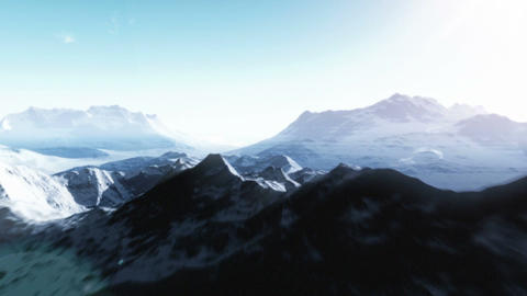 Mountain Range 4 stock footage