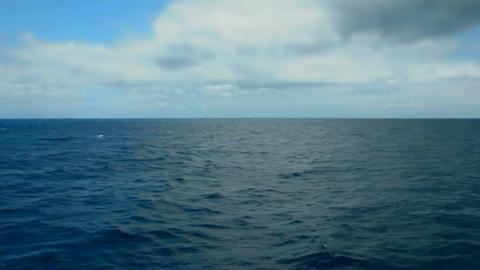 deep sea and sky horizon Stock Video Footage