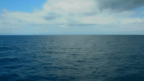 deep sea and sky horizon Stock Video Footage