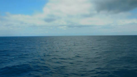 Deep Sea And Sky Horizon stock footage