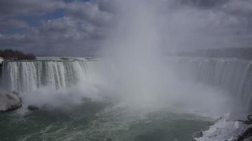 Niagara Falls Horseshoe Falls Slow Motion 01 - 24P Stock Video Footage