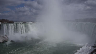 Niagara Falls Horseshoe Falls Slow Motion 01 - 24P Footage
