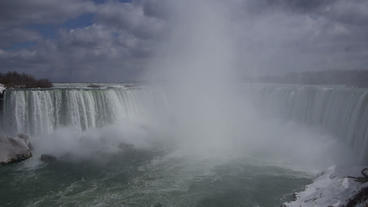 Niagara Falls Horseshoe Falls Slow Motion 01 - 30P Stock Video Footage