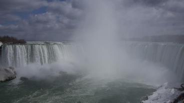 Niagara Falls Horseshoe Falls Slow Motion 01 - 30P Stock Video Footage